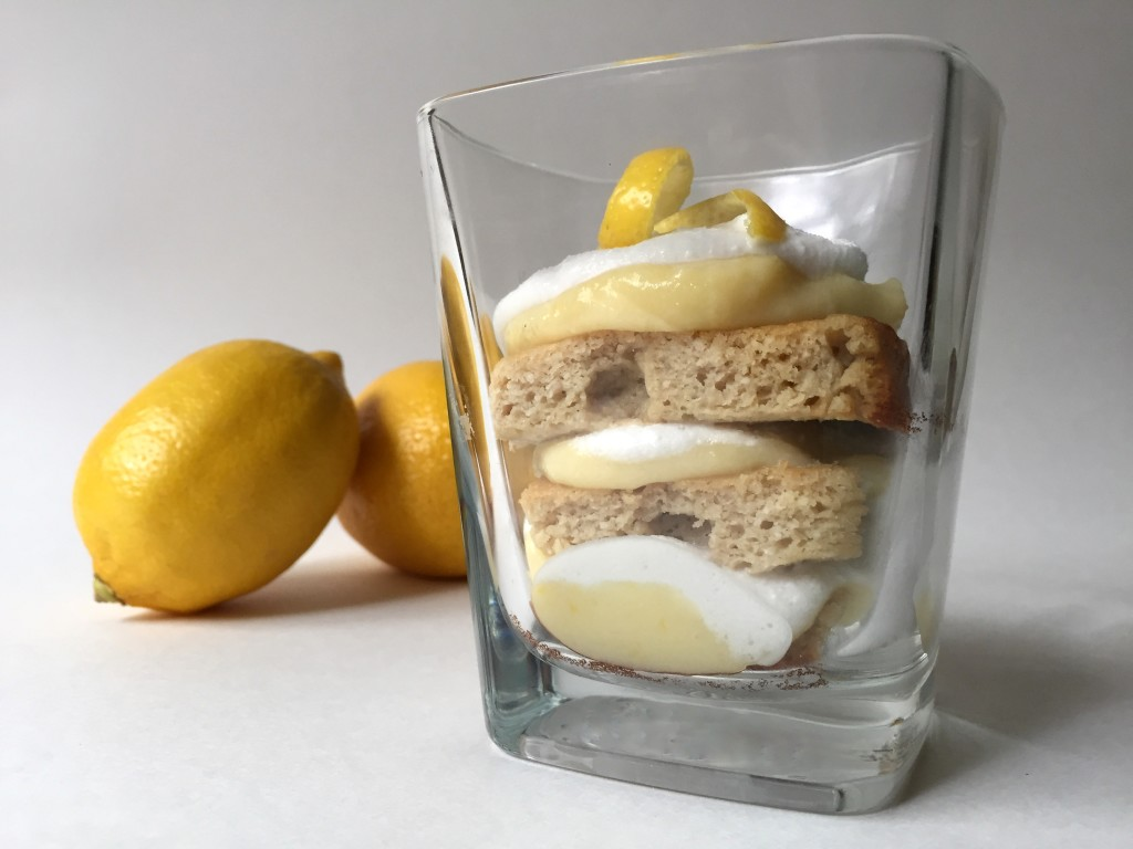 Lemon Cake, Curd, and Cream in a Cup (Paleo)