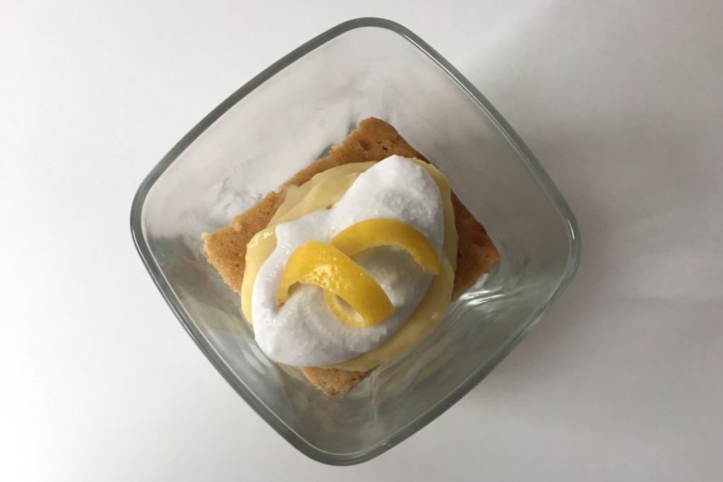 Lemon Cake Curd and Cream in a Cup (Paleo)